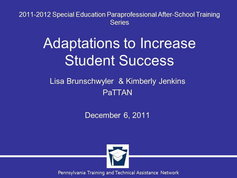 Adaptations to Increase Student Success
