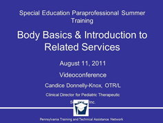 Body Basics and Introduction to Related Services