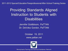 Providing Standards Aligned Instruction to Students with Disabilities