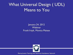What Universal Design for Learning (UDL) Means to You