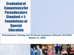 Standard 01 - Foundations of Special Education