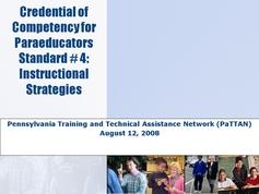 Standard 04 - Instructional Strategies