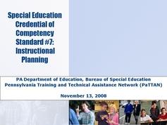 Standard 07 - Instructional Planning