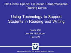 Using Technology to Support Reading and Writing
