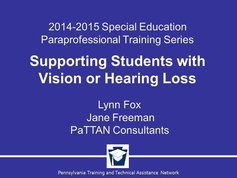 Supporting Students with Vision or Hearing Loss