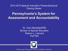Pennsylvania's System for Assessment for Accountability