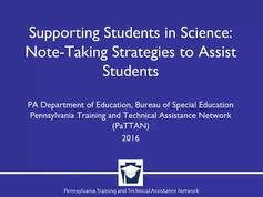 Supporting Students in Science