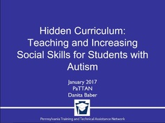 Hidden Curriculum: Teaching and Increasing Social Skills for Students with Autism