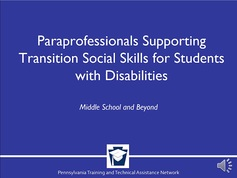 Paraprofessionals Supporting Transition Social Skills for Students with Disabilities