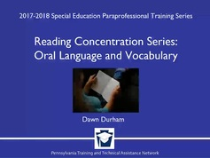 Reading Concentration Series: Oral Language and Vocabulary
