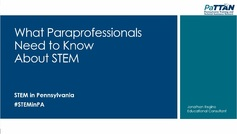 What is STEM?  What paraprofessional need to know about STEM