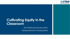 Cultivating Equity in the Classroom