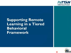 Remote Learning in a Tiered Behavior Framework