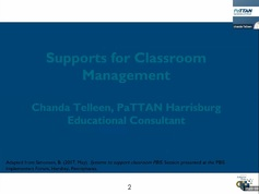 Supports for Classroom Management